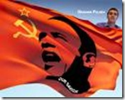 obama commie flag